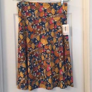 LuLaRoe Teal & Gold  Azure Skirt Sz XL NWT